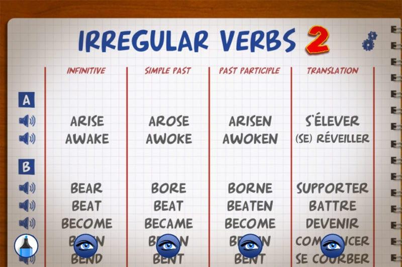Premium English Irregular Verbs